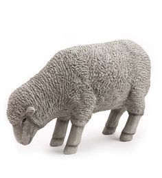 """From Wind & Weather, a realistic resin Grazing Sheep lawn statue. Incredibly detailed, with textured wool, protruding ears, and lifelike facial features. Made of strong polyresin that can handle the outdoor elements. 26"""" long x 11"""" wide x 16"""" high."""