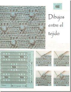 dibujos entre el tejido tutorial