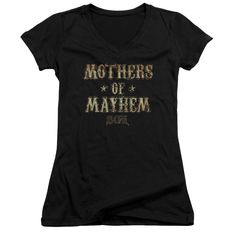 """Checkout our #LicensedGear products FREE SHIPPING + 10% OFF Coupon Code """"Official"""" Sons Of Anarchy / Mothers Of Mayhem-junior V-neck - Sons Of Anarchy / Mothers Of Mayhem-junior V-neck - Price: $29.99. Buy now at https://officiallylicensedgear.com/sons-of-anarchy-mothers-of-mayhem-junior-v-neck"""