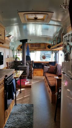 Easy Way Bus Conversion to Big RV Camper Family www.vanchitecture… Easy Way Bus Conversion to Big RV Camper Family www. Bus Living, Living Room, Rv Bus, Rv Campers, Camper Van, Camper Trailers, Travel Trailers, Camper Life, Diy Camper