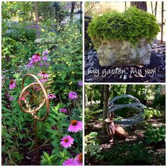 Woodland Garden, Home And Garden, Backyard, Plants, Projects, Diy, Log Projects, Yard, Bricolage
