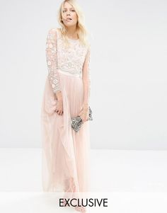 Needle+&+Thread+Butterfly+Gown+Tulle+Maxi+Dress