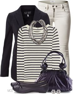 """Purple and White"" by mclaires on Polyvore"