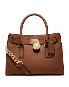MICHAEL Michael Kors Hamilton Saffiano Satchel. The last service bag bag I'd ever buy!