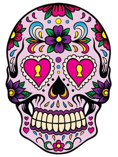 Candy Sugar Skull Day of the Dead Dia de los by rtagraphics Sugar Scull, Sugar Skull Art, Skull Artwork, Skull Painting, Candy Skulls, Mexican Skulls, Mexican Art, Wallpaper Caveira, Dibujos Sugar Skull