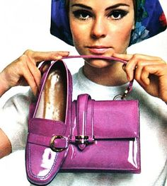1967 Purple Patent-Leather Shoe and Bag (always matching)