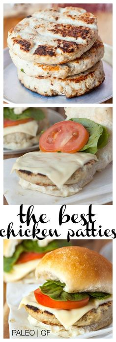 The Best Chicken Patties- Hands down, the ultimate chicken patties- Juicy, thick and so flavourful without the need for any grains, flours or additives- and better than take out! –thebi Source by Chicken Burgers Healthy, Homemade Chicken Burgers, Chicken Patty Recipes, Ground Chicken Burgers, Ground Chicken Recipes, Crockpot, Cooking Recipes, Healthy Recipes, Yummy Recipes