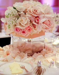 WeddingChannel Galleries: Pretty Pink Centerpiece