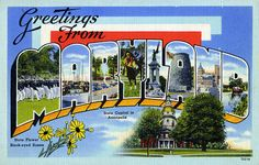 Greetings from Maryland - Large Letter Postcard