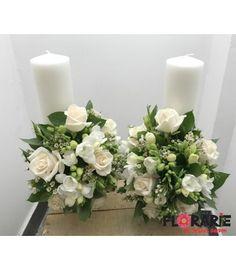 Set Rafaela Donata My Little Onyx argint onyx zirconii cercei brarara Wedding Flowers, Wedding Dresses, Terraria, Pillar Candles, Wax, Floral Wreath, Wreaths, Table Decorations, Bridal