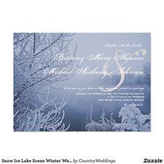 Snow Ice Lake Scene Winter Wedding Invitations X Invitation Card Country Wedding Invitations, Holiday Invitations, Wedding Invitation Wording, Wedding Rsvp, Custom Invitations, Invitation Cards, Invites, Wedding Ideas, Wedding Stationary