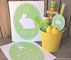 Some Bunny Loves You Buckets - Free Easter Printable