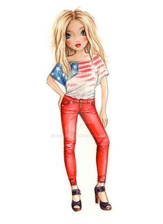 American Girl by funandcake