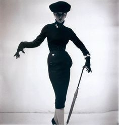 Anne St. Marie, wearing a design by Christian Dior (1905-1957), 1950
