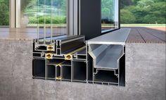Internal gutter fitted with mesh Window Design, Door Design, House Design, Detail Architecture, Interior Architecture, Patio Doors, Building Materials, Cladding, Design Case