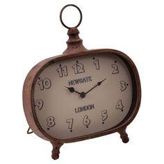 Distressed metal desk clock  Product: Desk clockConstruction Material: MetalColor: Rust...