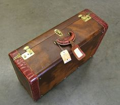 Vintage Crocodile Suitcase | SUPERB VINTAGE 1920'S CROCODILE ...