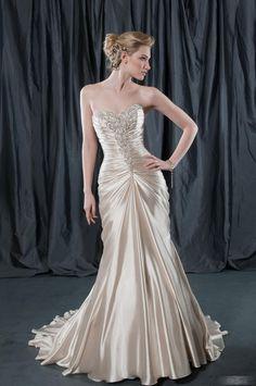 Spectacular Trumpet/Mermaid Sweetheart Floor-length Chapel Ruffling Wedding Dresses with Appliques  $196.09