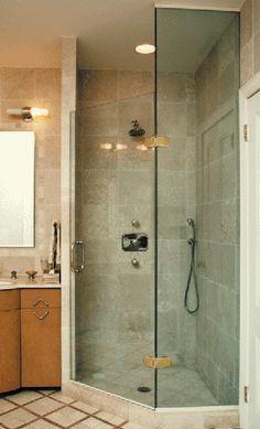 Neo Angle Custom Shower Door Gallery 3