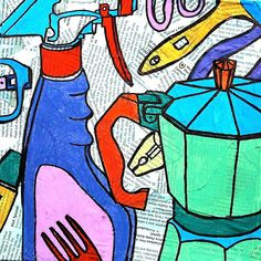arteascuola: Pizza box inspired by Michael Craig-Martin Pop Art, Michael Craig, Gcse Art Sketchbook, Sketchbooks, Middle School Art, Art School, School Stuff, Arts Ed, Everyday Objects