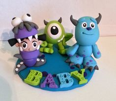 Monsters INC Baby Shower Cake Topper & Keepsake by RSQD on Etsy