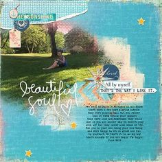 Beautiful Soul by Jana Oliveira Digital Scrapbooking Designs by Lynn Grieveson beautiful colors and vintage elements.