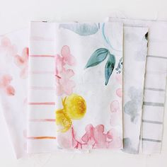 Guildery | In Bloom Trunkshow Collection desgined by @meganpapworth #fabric #watercolorflorals www.guildery.com