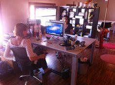 Cristina and Angela | More @ www.mocainteractive.com  #work #office