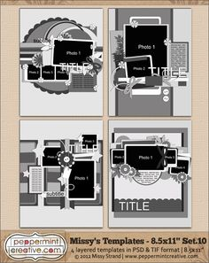 Missy's Templates Set.10 (8.5x11)