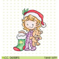 Cinnamon with Stocking available at Little Miss Muffet Stamps
