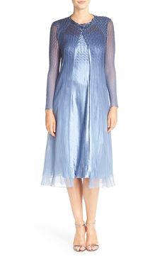2be41da2fc Komarov Charmeuse A-Line Dress   Embellished Topper (Regular   Petite)