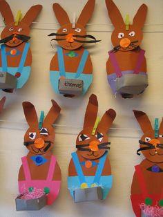 easter crafts (easter crafts for toddlers cards) Easter Arts And Crafts, Easter Activities For Kids, Spring Crafts, Holiday Crafts, Rabbit Crafts, Bunny Crafts, Toddler Crafts, Preschool Crafts, Hoppy Easter