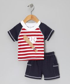 Both playful as well as posh, this darling ensemble knows what boys enjoy and parents appreciate—like cuddly soft fabric, bright colors, an elastic waistband and simple care instructions.