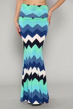 Super fun and blue/green/black/white chevron skirt &/or maxi dress!!!
