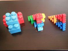 Fractal tetrahedron with legos.