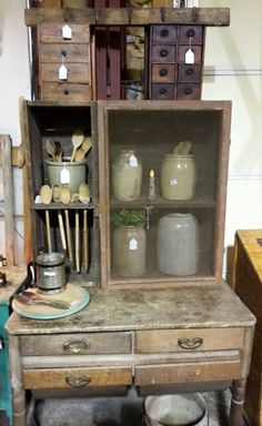 Antique Bakers Cabinet Possum Belly Bakers Cabinet