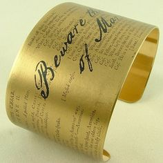beware the ides of march quote   ... Quote Brass Cuff Bracelet Julius Caesar 'Beware The Ides Of March