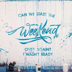 HAPPY WEEKEND EVERYONE! ...there's nothing better to start a weekend than a great piece of beautiful LETTERING ;) --- Weekend lettering by David Milan #handwrittenlettering #cutelettering #handlettering #cuteletteringideas