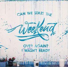 Weekend lettering by David Milan