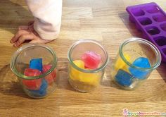 experience mixing ice cube colors - My CMS Kindergarten Science, Science Classroom, Teaching Science, Science For Kids, Art For Kids, Activities For Kids, Color Activities, Classroom Ideas, Science Experience
