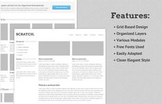 Scratch – Clean and Grid Based PSD Website Template