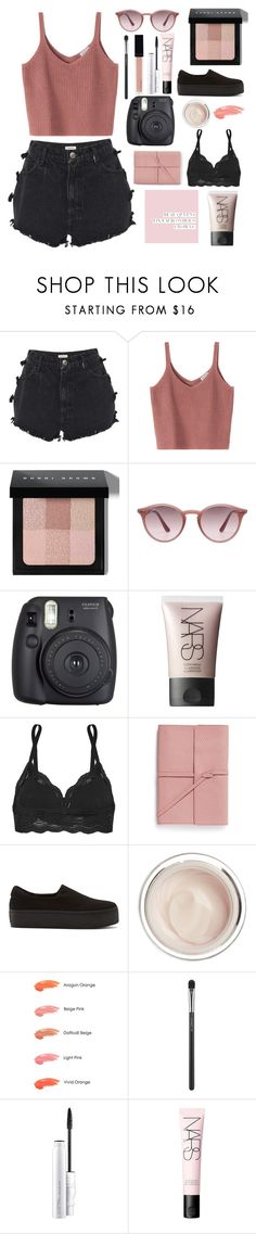 """""""Pink"""" by r-bye ❤ liked on Polyvore featuring Manoush, Bobbi Brown Cosmetics, Ray-Ban, Fuji, NARS Cosmetics, Cosabella, Bynd Artisan, Opening Ceremony, Dr. Sebagh and Anna Sui"""