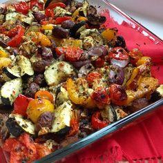 Greenway36: Ofengemüse mit Schafskäse und Zitronen-Kräuter-Dip aber ohne Paniermehl
