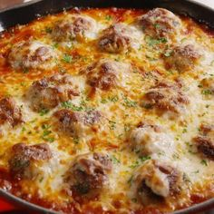 Chicken Parm Meatball Skillet - made just the meatballs with marinara and pasta (decreased the parmesan a bit & added basil and oregano) Seafood Recipes, Chicken Recipes, Cooking Recipes, Healthy Recipes, Low Carb Recipes, Dinner Recipes, Dinner Ideas, Cooking Games, Fast Recipes