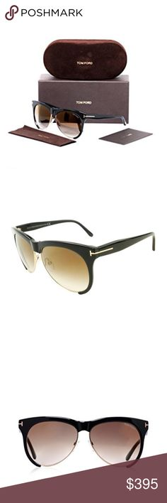 Tom Ford authentic sunglasses As seen on Celebs! authentic Tom Ford Half rim brownish gold lense black frame sunglasses. Comes with the brown velvety case. Sold out everywhere! I do not trade, thanks for not asking! Tom Ford Accessories Sunglasses