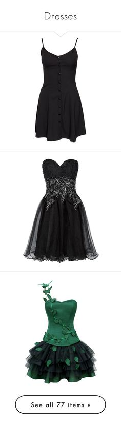 """""""Dresses"""" by raven2008 ❤ liked on Polyvore featuring dresses, vestidos, short dresses, black, party dresses, womens-fashion, nly trend, tall dresses, short black cocktail dresses and tall black dress"""