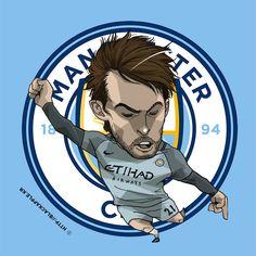 Manchester City No.21 David Silva Fan Art Zen, Manchester City, Football Team, Soccer, David, Fan Art, Seasons, England, Club