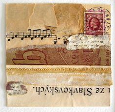 Original OOAK Fine Art 12 x 12 Matted & Framed Collage Mixed Media: UTTERINGS A Wordless Prayer Series