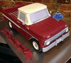Groundhog Day Gets Even Sweeter — Cake Wrecks Truck Birthday Cakes, Truck Cakes, 3d Cakes, Cupcake Cakes, Chevrolet Trucks, Chevy, Car Cakes For Men, Sculpted Cakes, Cake Wrecks