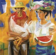 Vicente Silva Manansala January 22 1910 August 22 1981 was a Filipino cubist painter and illustrator vicente manansala Vicente manansala Early Filipino Art, Filipino Culture, Mexican Paintings, Southeast Asian Arts, Philippine Art, Art Database, Vintage Artwork, New Artists, Beautiful Paintings